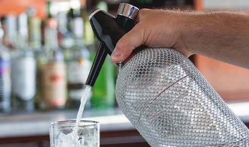 Behind the Bar Glass Soda Siphon